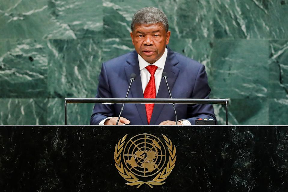 Angola's President Joao Manuel Goncalves Lourenco addresses the 74th session of the United Nations General Assembly at U.N. headquarters in New York City, New York, U.S., September 24, 2019. REUTERS/Eduardo Munoz