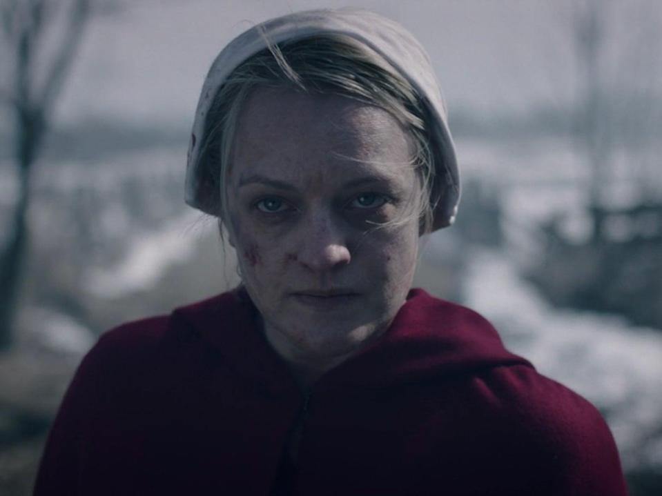 Elisabeth Moss in 'Pigs', the first episode of season four of 'The Handmaid's Tale' (Hulu)