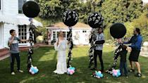 "<p>The actress revealed pregnancy three was to be a girl in this cute balloon-popping video. </p><p><a href=""https://www.instagram.com/p/BhPKzU8AMhT/?taken-by=katehudson"" rel=""nofollow noopener"" target=""_blank"" data-ylk=""slk:See the original post on Instagram"" class=""link rapid-noclick-resp"">See the original post on Instagram</a></p>"