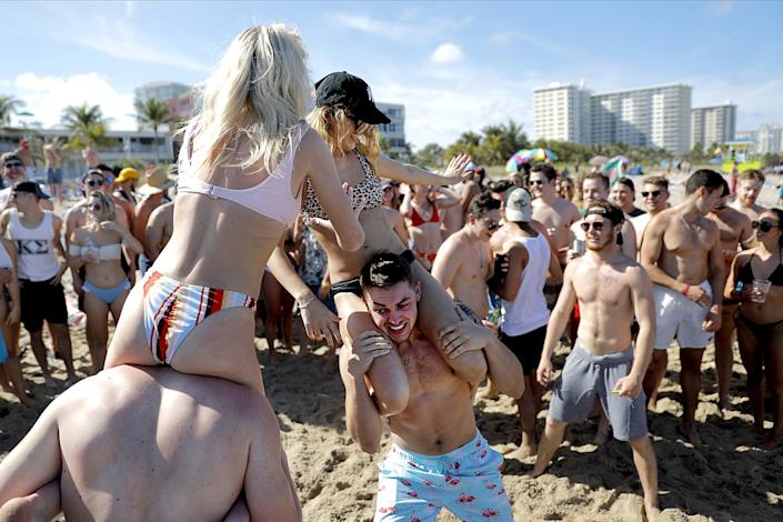 Spring break revelers in Pompano Beach, Fla., in March.