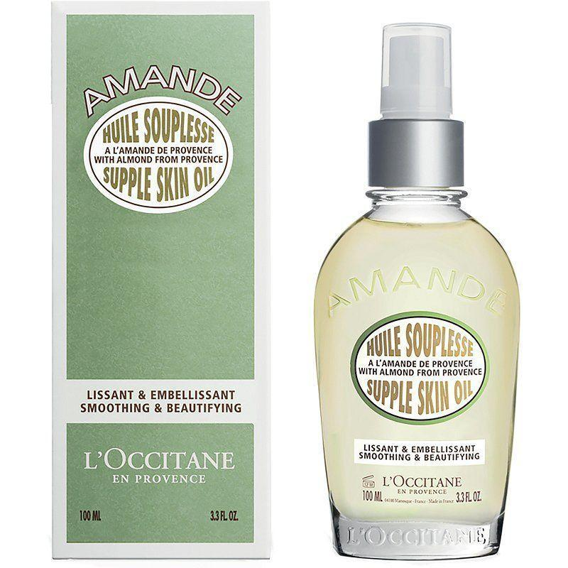 """<p><strong>L'Occitane</strong></p><p>amazon.com</p><p><strong>$50.00</strong></p><p><a href=""""https://www.amazon.com/dp/B00IMJF09M?tag=syn-yahoo-20&ascsubtag=%5Bartid%7C10055.g.33012147%5Bsrc%7Cyahoo-us"""" rel=""""nofollow noopener"""" target=""""_blank"""" data-ylk=""""slk:Shop Now"""" class=""""link rapid-noclick-resp"""">Shop Now</a></p><p>A GH Beauty Lab expert holy grail, L'Occitane's luxurious <a href=""""https://www.goodhousekeeping.com/beauty-products/g26341786/best-body-oils/"""" rel=""""nofollow noopener"""" target=""""_blank"""" data-ylk=""""slk:body oil"""" class=""""link rapid-noclick-resp"""">body oil</a> spray is loaded with natural oils like almond, rose, and sunflower. """"It's <strong>a godsend for my knees, elbows, and even hands, absorbing fast and leaving skin supple</strong>,"""" says GH Beauty Lab senior chemist <a href=""""https://www.goodhousekeeping.com/author/1473/sabina-wizemann/"""" rel=""""nofollow noopener"""" target=""""_blank"""" data-ylk=""""slk:Sabina Wizemann"""" class=""""link rapid-noclick-resp"""">Sabina Wizemann</a>. """"The formula is crafted with 50% almond oil, but it doesn't feel heavy on skin and a little bit goes a long way — plus, the comforting almond scent is addictive. Even better? """"In the summer, it gives a subtle sheen to my legs,"""" she adds.</p>"""
