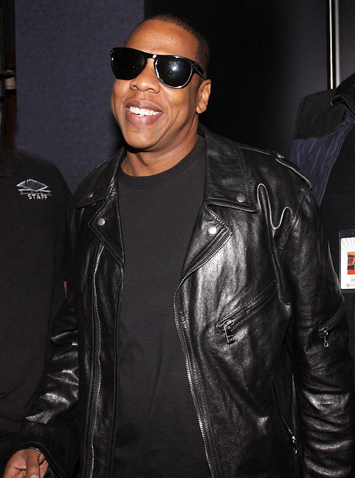 """After performing for a sold-out hometown crowd at NYC's Madison Square Garden, Jay-Z threw an after party at his 40/40 club. Johnny Nunez/<a href=""""http://www.wireimage.com"""" target=""""new"""">WireImage.com</a> - March 2, 2010"""