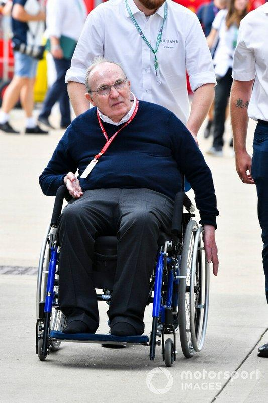 "Sir Frank Wiliams, Team Principal, Williams Racing, nel paddock <span class=""copyright"">Mark Sutton / Sutton Images</span>"