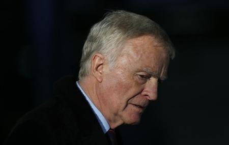 Former motor-racing boss Max Mosley leaves after attending the release of Lord Justice Brian Leveson's report on media practices in central London November 29, 2012. REUTERS/Andrew Winning/Files