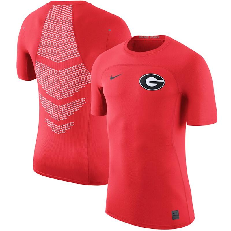 Georgia Bulldogs Nike HyperCool Player Top
