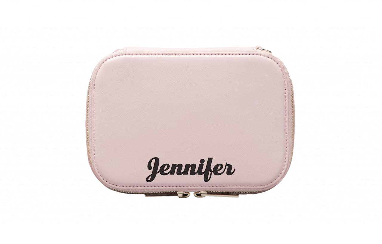 "<div>Suki Waterhouse and Poppy Jamie's millennial accessories brand, Pop & Suki, have become renowned for fun and handily-sized bags. Now, they've dropped a sleek range of cosmetic bags in shades of black and cotton candy. You can even add your name.<br /><a rel=""nofollow"" href=""https://popandsuki.com/products/makeup-case""><i>Pop & Suki, £59.75</i></a> </div>"