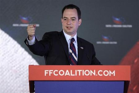 """Republican National Committee Chairman Priebus addresses the Faith and Freedom Coalition """"Road to Majority"""" conference in Washington"""