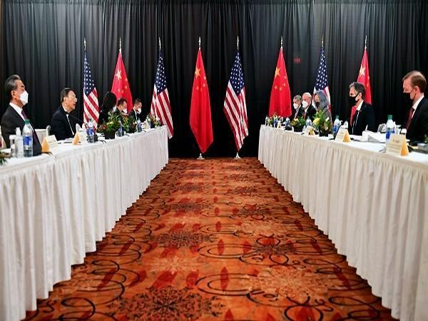 US-China high level meeting in Alaska. (Credit: Reuters PIctures)