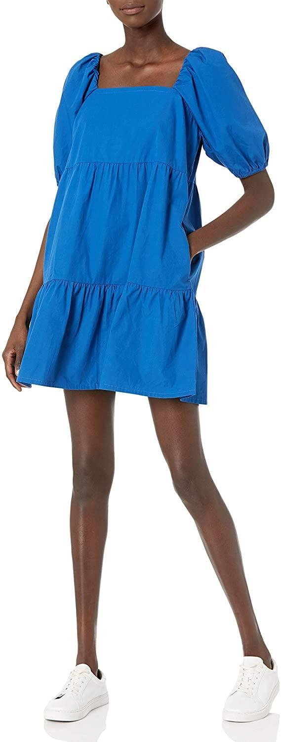 <p>You can't go wrong with <span>The Drop Puff-Sleeve Mini Dress</span> ($45), for a wear-everywhere, everyday dress. The blue shade also feels fresh and electrifying.</p>