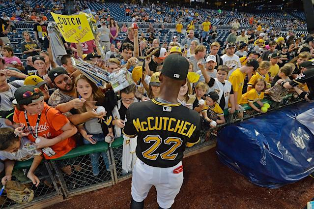 Andrew McCutchen used his non-baseball talents to cheer up a kid who had been diagnosed with cancer. (Getty Images)