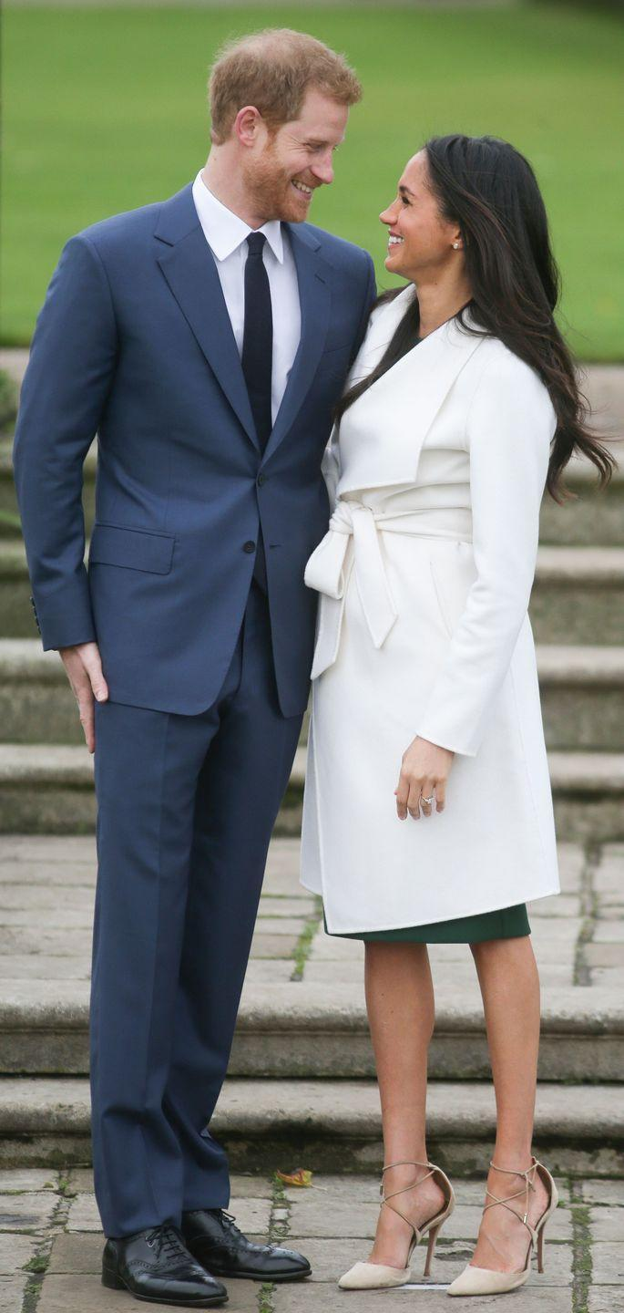 <p>As they announced the news they were engaged in November 2017, Markle repeatedly looked into her husband-to-be's eyes as they gushed about each other to journalists. </p>
