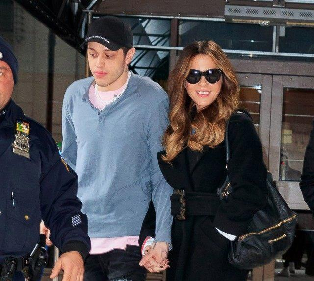 Pete Davidson, Kate Beckinsale confirm romance with kiss at hockey game