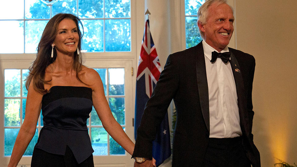 Greg Norman and wife Kirsten, pictured here at the White House in 2019.