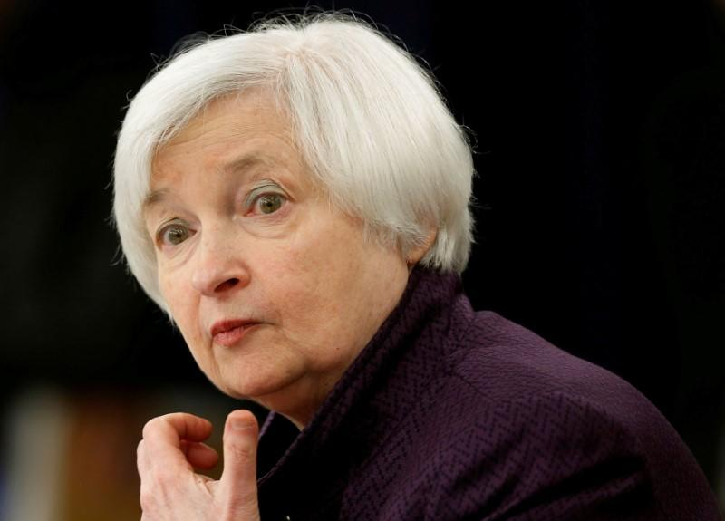 File photo of US Federal Reserve Chair Yellen holding news conference following two-day Federal Open Market Committee meeting in Washington