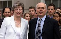 In 2002, then Conservative leader Iain Duncan Smith announced Theresa May as the party's new Chairman, the first woman to hold the role. Photo dated 23/07/2002 (PA)