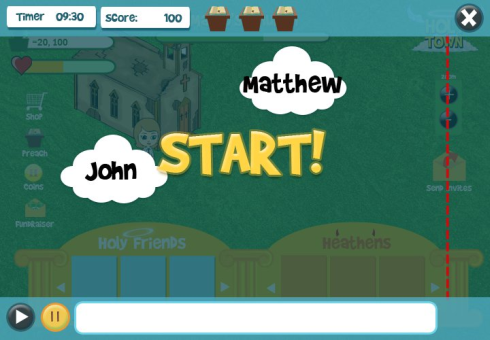 Holy Town typing game