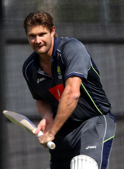 ADELAIDE, AUSTRALIA - NOVEMBER 20: Shane Watson prepares for a net session during an Australian training session at Adelaide Oval on November 20, 2012 in Adelaide, Australia.  (Photo by Regi Varghese/Getty Images)