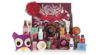 """<p>The Body Shop is offering beauty junkies a 24-window advent calendar this Christmas with contents worth over £84. The 'Enchanted Forest'-themed set includes some familiar favourites with almond-scented hand cream and peppermint candy cane body wash behind its doors. Available online <a rel=""""nofollow noopener"""" href=""""https://www.thebodyshop.com/en-gb/gifts/beauty-advent-calendars/24-days-of-the-enchanted-advent-calendar/p/p002908?activeVariant=1093207&ds_kid=92700027970657903&utm_placement=B+%7C+Gifts+-+Gifters&gclid=Cj0KCQjwjbveBRDVARIsAKxH7vn0kzTNaCoSJjPWC2v0bxTt9XcFN1QyJc2__k2hhW6FNieFgemvJCQaAkM_EALw_wcB&gclsrc=aw.ds"""" target=""""_blank"""" data-ylk=""""slk:now"""" class=""""link rapid-noclick-resp"""">now</a>. </p>"""