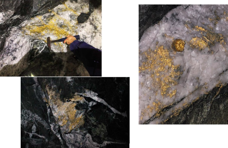 A selection of the gold found in the mine (Picture: RNC Minerals)