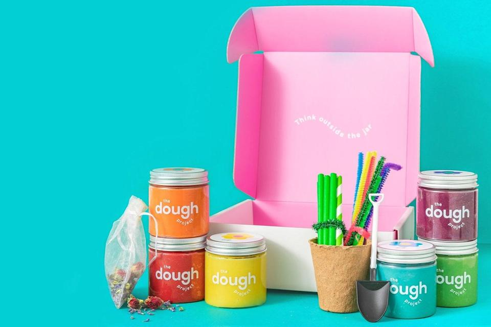 <p>Kids can pretend to plant their own garden with <span>The Dough Project The Garden Project</span> ($48) kit, which includes six colorful jars of dough, a cute flowerpot, a small shovel, straws, pipe cleaners, and real dried flowers.</p>