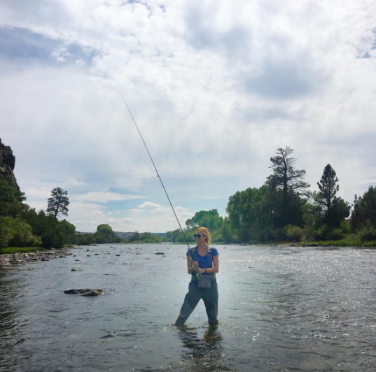 "<p>Who knew fishing was such a thing with supermodels? Klossy looked liked a pro during an end-of-summer adventure in Saratoga, Wyo., last August. However, she had little success, quipping, ""I got bagel bites."" (Photo: <a href=""https://www.instagram.com/p/BJglCcXgr-N/?taken-by=karliekloss&hl=en"" rel=""nofollow noopener"" target=""_blank"" data-ylk=""slk:Karlie Kloss via Instagram"" class=""link rapid-noclick-resp"">Karlie Kloss via Instagram</a>) </p>"