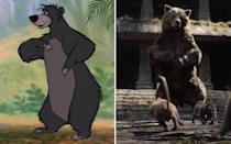 <p>Whether he's voiced by Phil Harris in the 1967 animated movie, or Bill Murray in the 2016 remake, the sloth bear of Rudyard Kipling's classic is beloved by all for teaching us about the bare necessities. (Credit: Disney) </p>