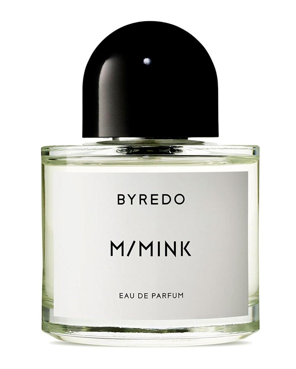 <p>This <span>M/Mink Eau de Parfum</span> ($265) is a collaboration between Byredo and Parisian creative agency M/M. Inspired by a block of solid ink from Asia and Korean traditional paper, the fragrance features rich notes of adoxal, incense, and patchouli.</p>