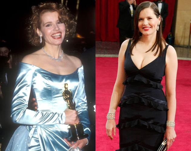 """Geena Davis won Best Supporting Actress for her role in """"The Accidental Tourist"""" in 1989 and in 2003 she walked the Oscar red carpet again with the same grace she did 14 years earlier."""