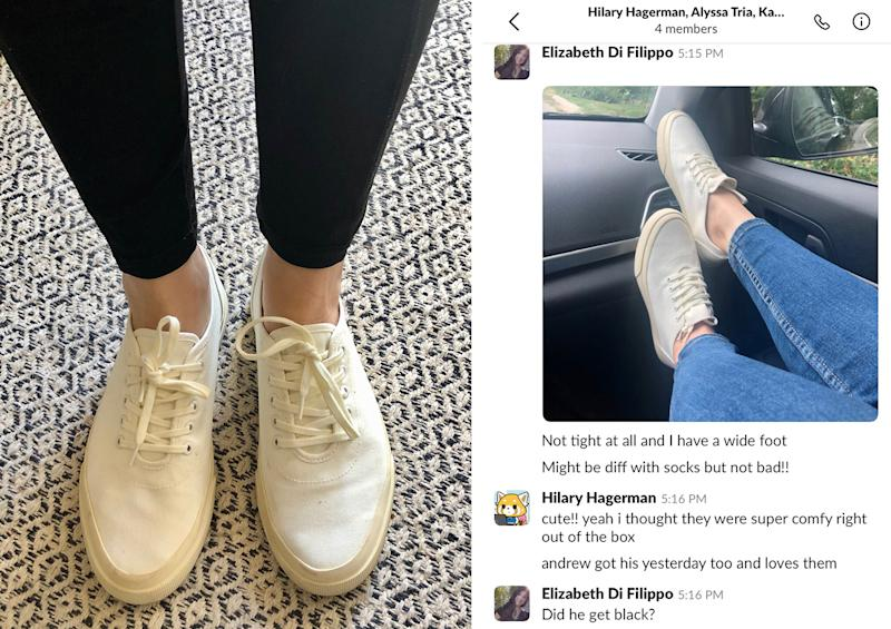 I don't always put my feet on the dash, but when I do it's to show my friends my new shoes in our Slack chat.