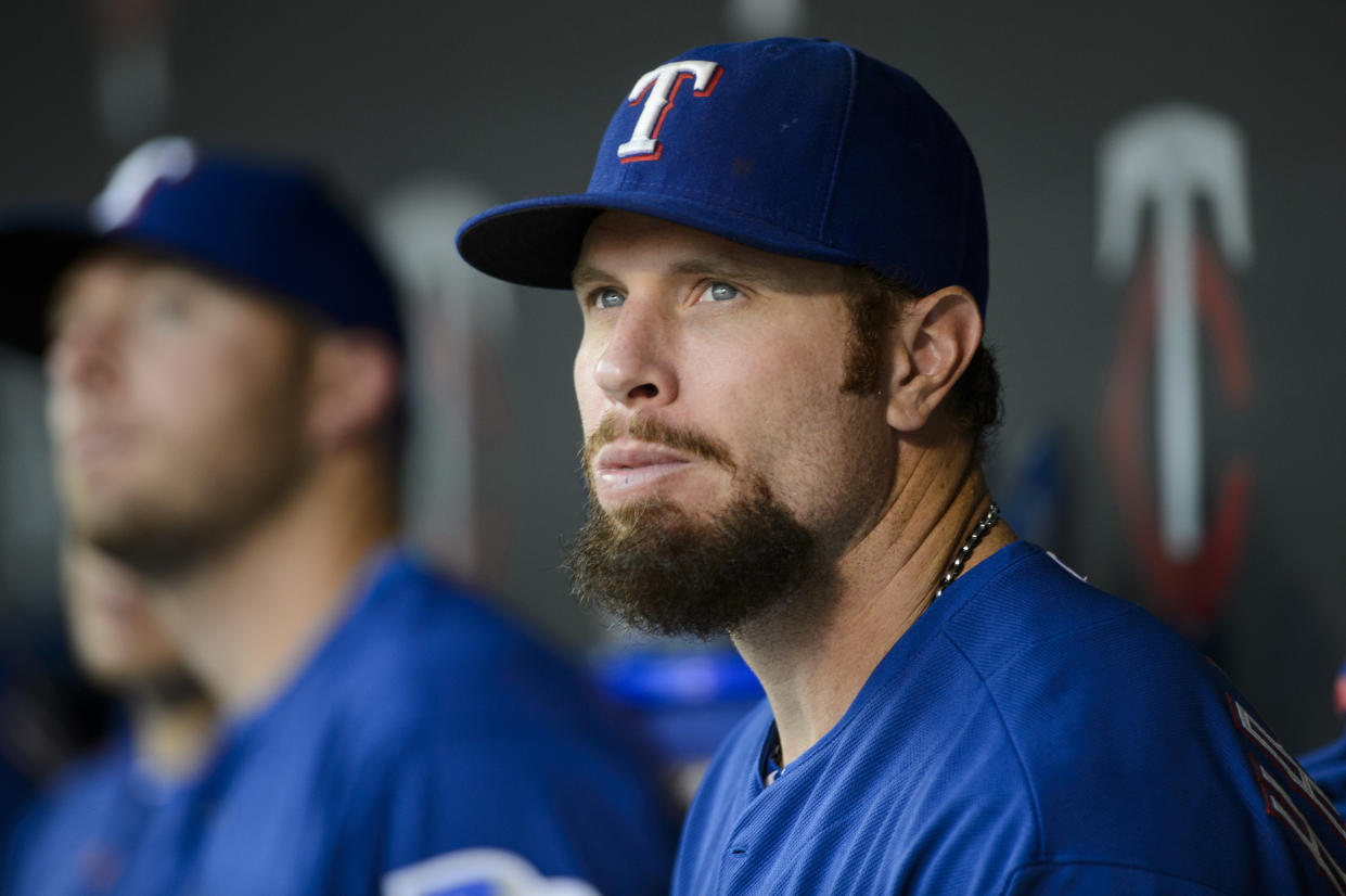 Josh Hamilton played in two World Series and won an MVP with the Texas Rangers. (Hannah Foslien/Getty)