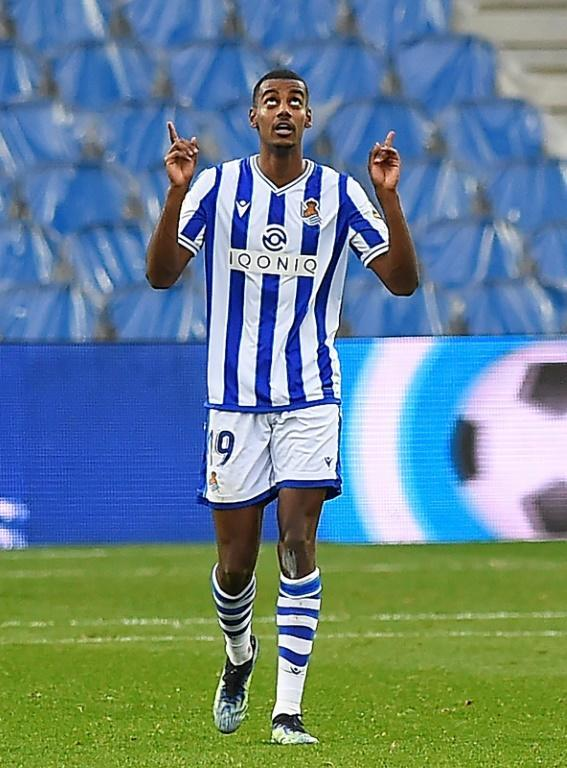 Swedish forward Alexander Isak will lead the threat for Real Sociedad against Barcelona