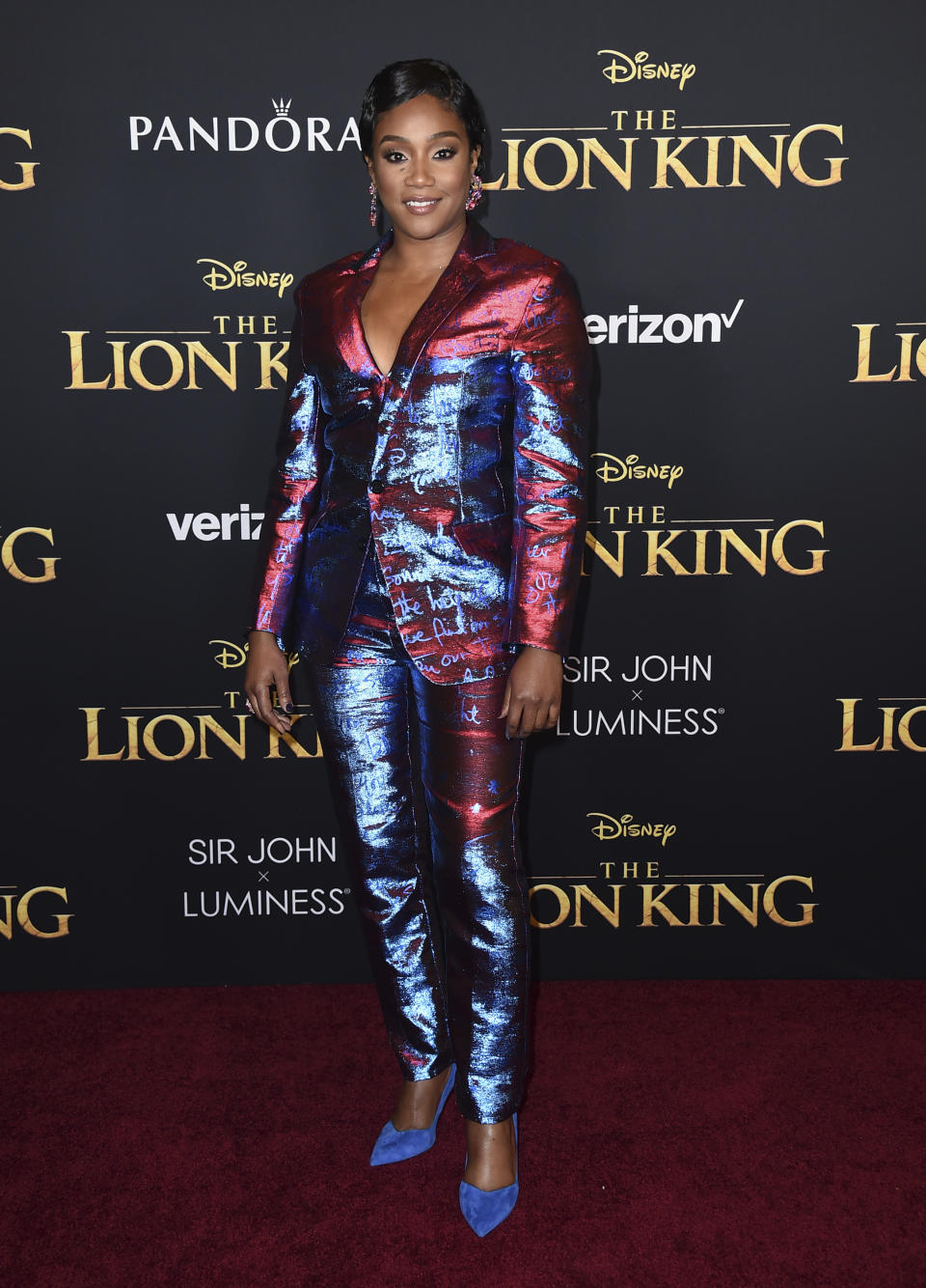 """Tiffany Haddish arrives at the world premiere of """"The Lion King"""" on Tuesday, July 9, 2019, at the Dolby Theatre in Los Angeles. (Photo by Jordan Strauss/Invision/AP)"""