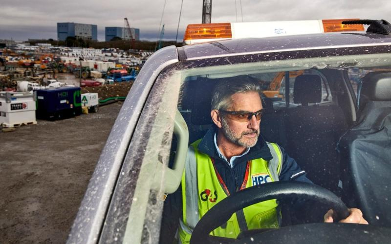 G4S provides security at Hinkley Point - Image is copyrighted to Ed Robinson.