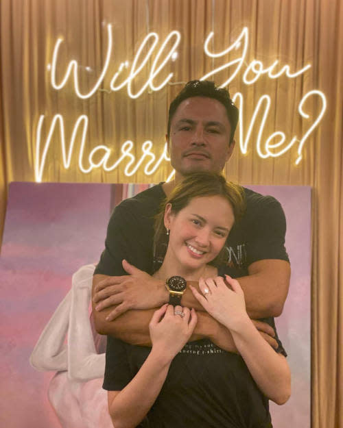 It was a Yes when Derek Ramsay popped the question last month.