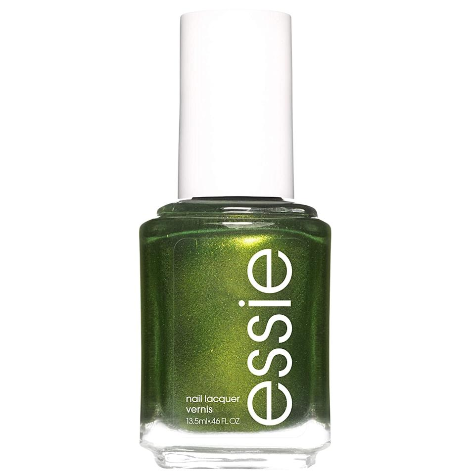 "<p>The biggest theme you'll be seeing across nail color categories this fall, according to Bland? Deep jewel tones ""with subtle, earthy undertones, such as dark hunter greens,"" she said. This will also go along well with the matte-meets-shiny top coat combo (you know, in case you want to be <em>really</em> on trend).</p> <p><product href=""https://www.amazon.com/essie-polish-shimmer-sweater-weather/dp/B07TVDZ5JH/ref=asc_df_B07TVDZ5JH/?tag=hyprod-20&amp;linkCode=df0&amp;hvadid=366403762457&amp;hvpos=&amp;hvnetw=g&amp;hvrand=697101581097831376&amp;hvpone=&amp;hvptwo=&amp;hvqmt=&amp;hvdev=c&amp;hvdvcmdl=&amp;hvlocint=&amp;hvlocphy=9004373&amp;hvtargid=pla-813009857685&amp;psc=1&amp;tag=&amp;ref=&amp;adgrpid=76465174455&amp;hvpone=&amp;hvptwo=&amp;hvadid=366403762457&amp;hvpos=&amp;hvnetw=g&amp;hvrand=697101581097831376&amp;hvqmt=&amp;hvdev=c&amp;hvdvcmdl=&amp;hvlocint=&amp;hvlocphy=9004373&amp;hvtargid=pla-813009857685"" target=""_blank"" class=""ga-track"" data-ga-category=""Related"" data-ga-label=""https://www.amazon.com/essie-polish-shimmer-sweater-weather/dp/B07TVDZ5JH/ref=asc_df_B07TVDZ5JH/?tag=hyprod-20&amp;linkCode=df0&amp;hvadid=366403762457&amp;hvpos=&amp;hvnetw=g&amp;hvrand=697101581097831376&amp;hvpone=&amp;hvptwo=&amp;hvqmt=&amp;hvdev=c&amp;hvdvcmdl=&amp;hvlocint=&amp;hvlocphy=9004373&amp;hvtargid=pla-813009857685&amp;psc=1&amp;tag=&amp;ref=&amp;adgrpid=76465174455&amp;hvpone=&amp;hvptwo=&amp;hvadid=366403762457&amp;hvpos=&amp;hvnetw=g&amp;hvrand=697101581097831376&amp;hvqmt=&amp;hvdev=c&amp;hvdvcmdl=&amp;hvlocint=&amp;hvlocphy=9004373&amp;hvtargid=pla-813009857685"" data-ga-action=""In-Line Links"">Essie Nail Polish in Sweater Weather</product> ($11)</p>"