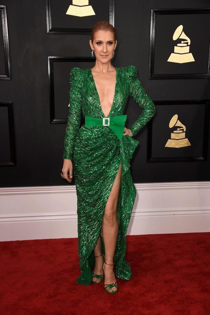 Celine Dion in Zuhair Murad. (Photo: Getty Images)