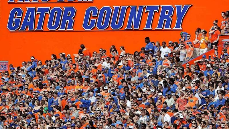 The Gator's crowd were in full voice. Pic: Getty