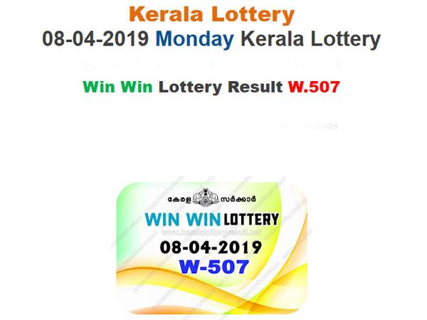 Kerala Today Lottery Results: Win Win W-507 Today Lottery