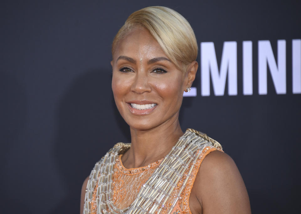 Jada Pinkett Smith attends the premiere of