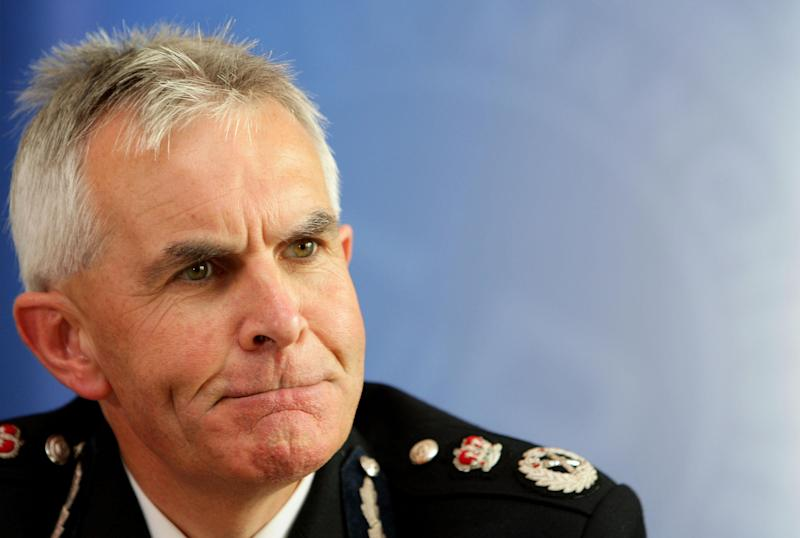 Peter Fahy, the new Chief Constable of Greater Manchester Police, during a press conference at the Lowry Hotel, Manchester, where his new appointment was announced.