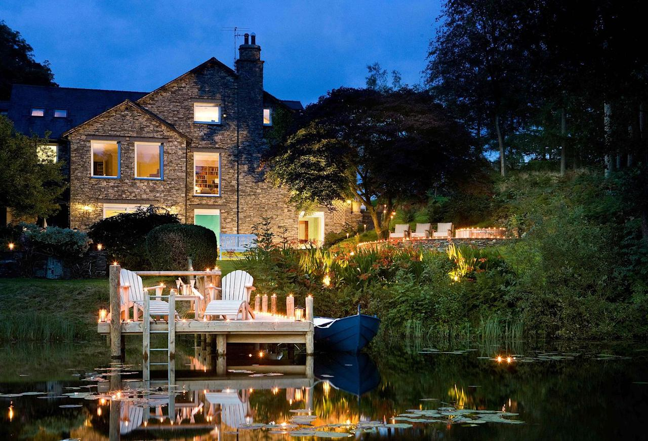 """<p><a class=""""body-btn-link"""" href=""""https://www.booking.com/hotel/gb/gilpin-country-house.en-gb.html"""" target=""""_blank"""">BOOK NOW</a> <strong>Doubles from £275 per night</strong></p><p>With its stunning Lake House overlooking its own private lake, plus luxury Spa Lodges with their own hot tubs, saunas and steam rooms, Gilpin is a place to really relax and take in the best of the Lakes. Here, you can also taste Cumbrian heritage with exotic spices at Michelin-starred HRiSHi or visit Gilpin Spice which has laid-back tapas-style pan-Asian dishes. The family-owned country house is relaxed, cosy and offers a true escape.</p>"""