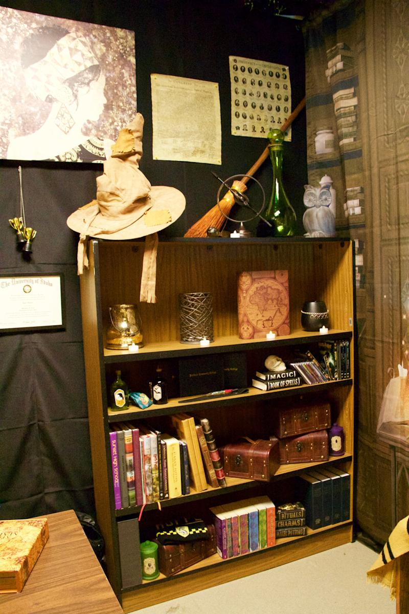 Hublerbrought his own collection of Harry Potter merchandise from home to the school and worked on decorating the room a month before the new year was set to start. (Photo: Courtesy of Kyle Hubler)