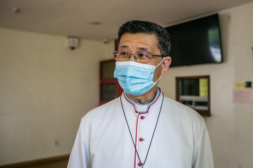 Kuala Lumpur Archbishop Julian Leow Beng Kim speaks to Malay Mail during an interview at the Church of Divine Mercy in Shah Alam December 25, 2020. — Picture by Firdaus Latif