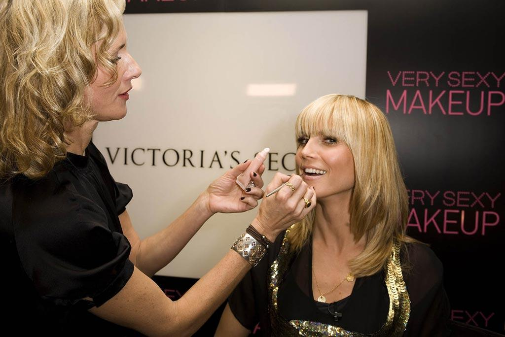 "Victoria's Secret Angel Heidi Klum got her lips touched up before revealing Hollywood's Red Carpet Secrets at the famed Roosevelt Hotel. Jean Baptiste Lacroix/<a href=""http://www.wireimage.com"" target=""new"">WireImage.com</a> - February 21, 2008"