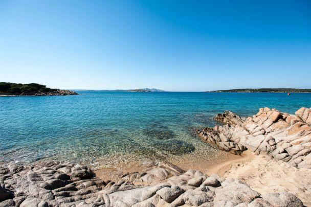 PHOTO: Beach at Hotel Pitrizza, a Luxury Collection Hotel Costa Smeralda, Porto Cervo.  (Oyster.com)