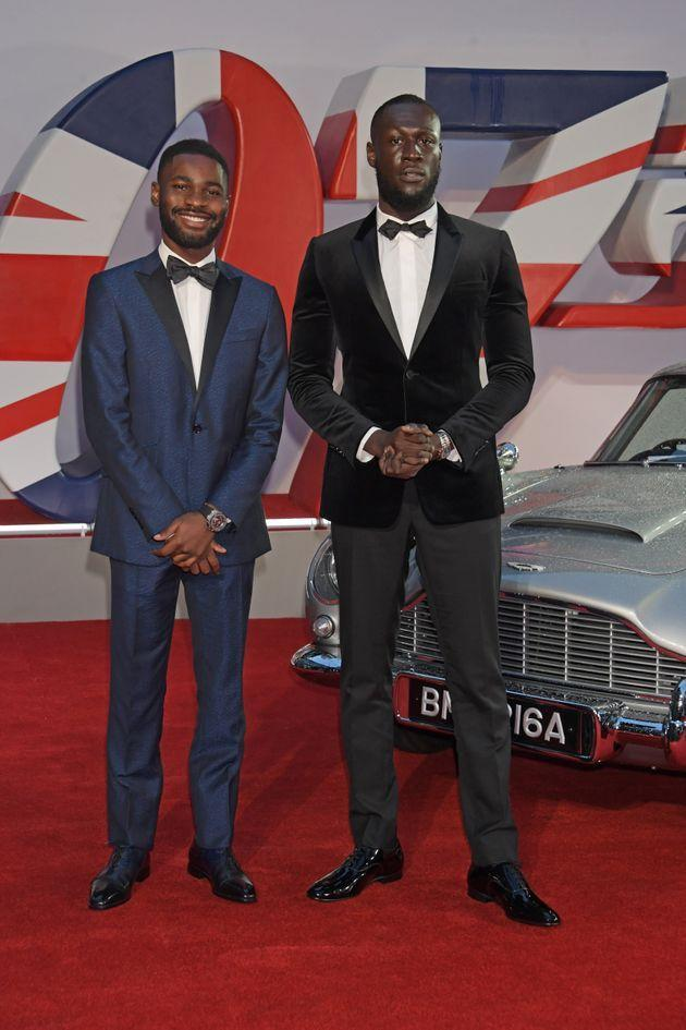 Dave and Stormzy at the premiere. (Photo: David M. Benett via Getty Images)