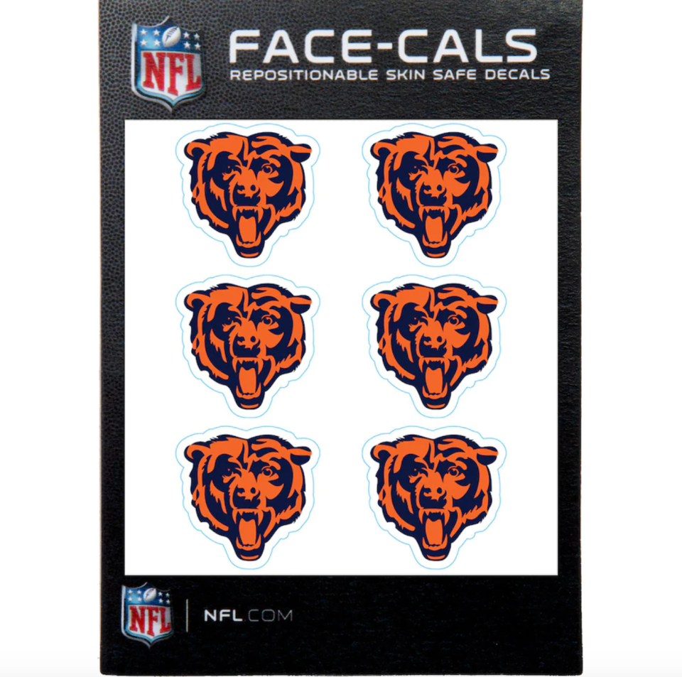 Bears 6-Pack Mini-Cals Face Decals