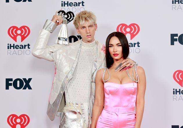 Machine Gun Kelly and Megan Fox attend the 2021 iHeartRadio Music Awards in May. (Photo: Emma McIntyre via Getty Images)