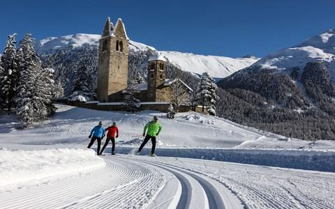 cross country skiing in switzlernad - Credit: Christoph Sonderegger