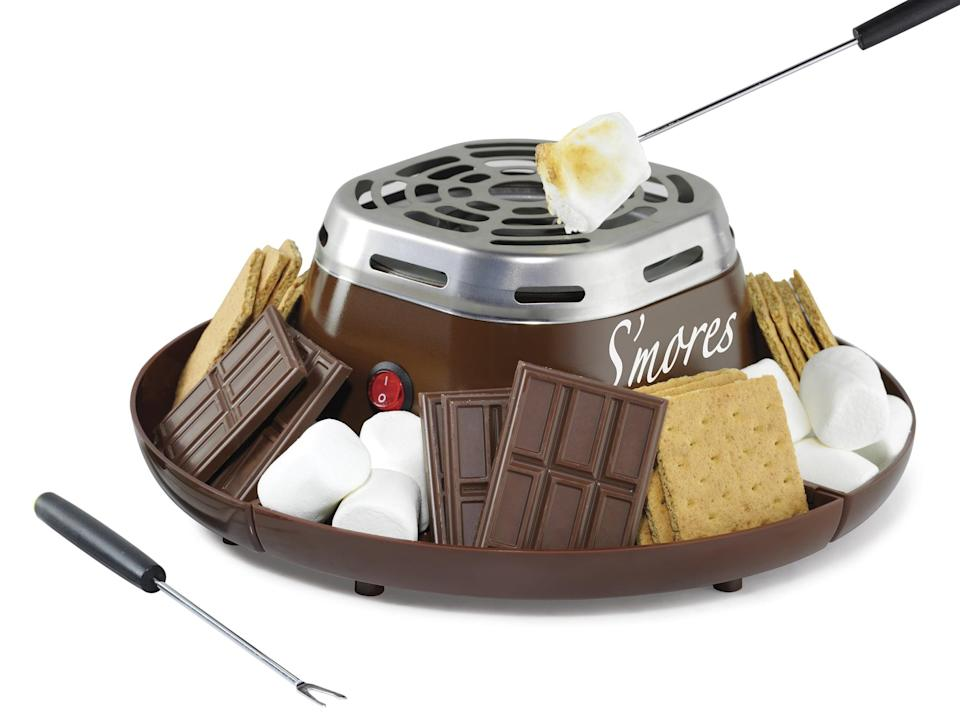 <p>Who wouldn't lose it over this <span>Nostalgia SMM200 Indoor Electric Stainless Steel S'mores Maker </span>($25)? It's great for those days when it's rainy or simply way too cold to go outside.</p>